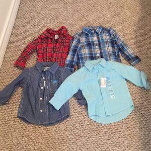 Baby boy button up shirts